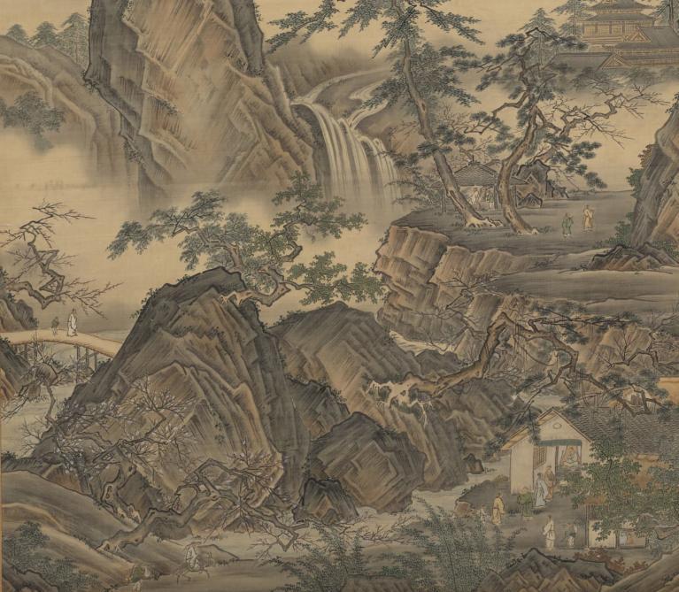 Kano Eitoku Tatsunobu- Four Seasons Landscape